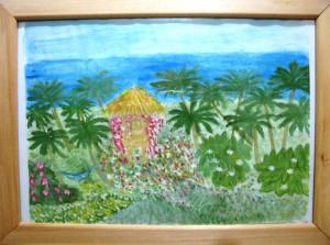 Дом нарисованный