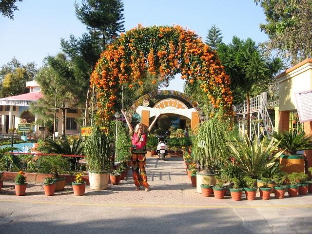 Вход в дендрариум Шантикундж