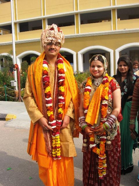 индийские Жених с невестой