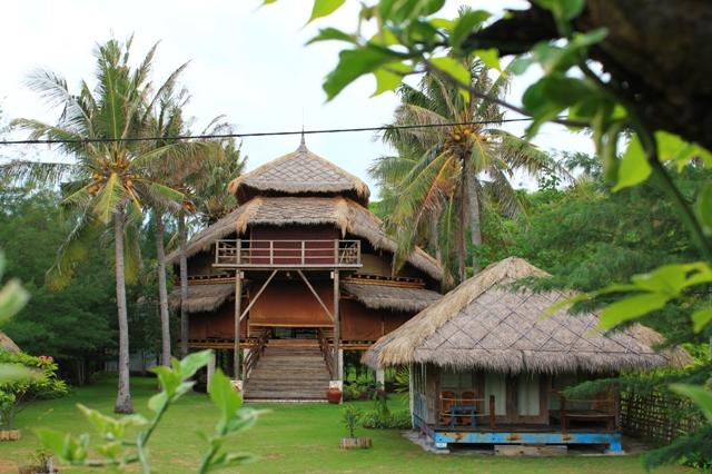 Бамбуковая вила на Травангане