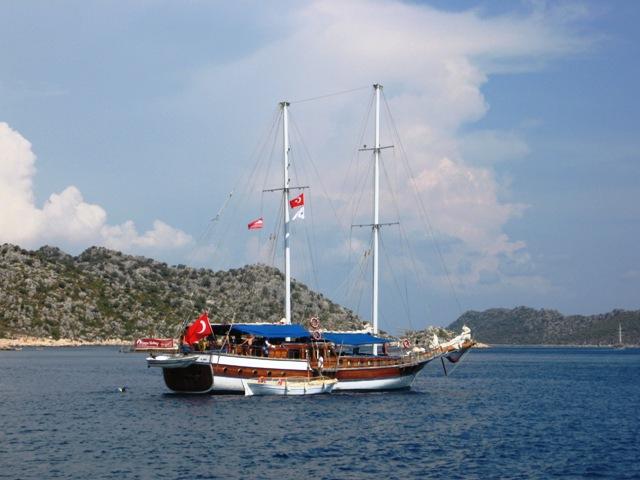 Турция прогулка на яхте