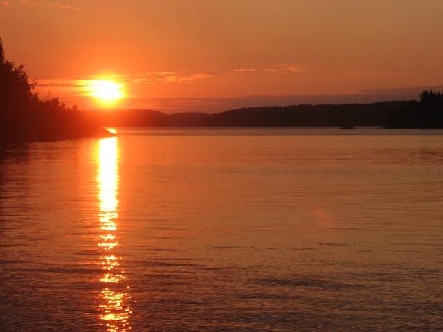 закат на Северной Ладоге