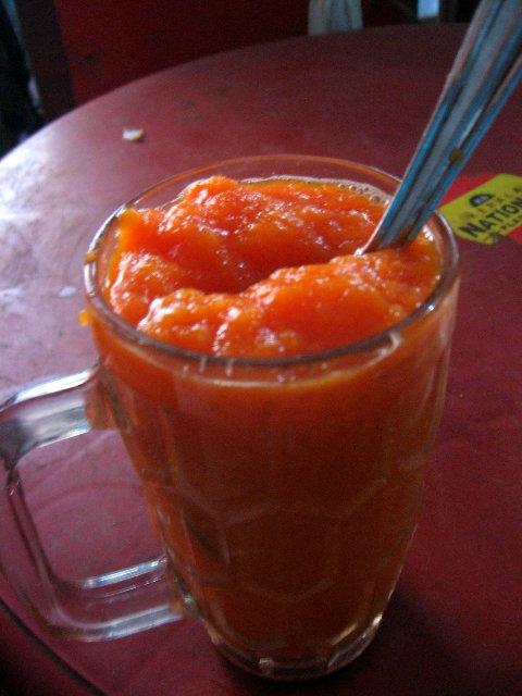 морковный сок в Индии
