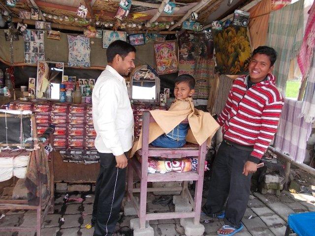 парикмахерская в Индии