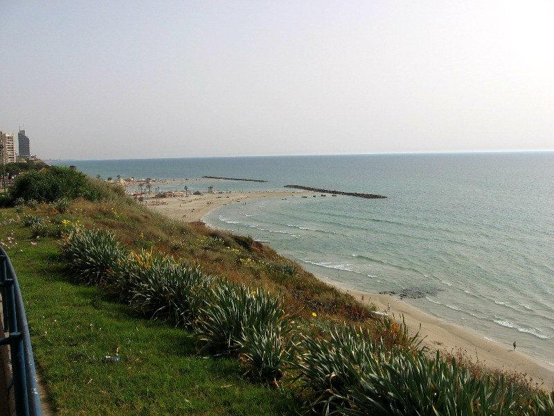 пляж нетании море