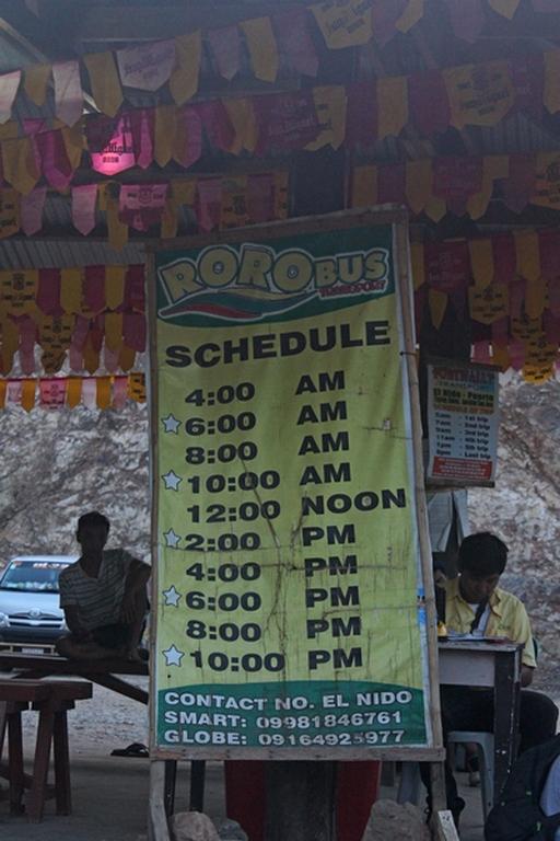расписание автобусов эль нидо пуэрто принцесс