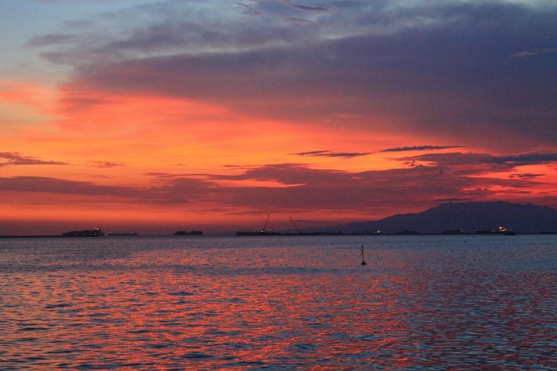 закат в маниле филиппины