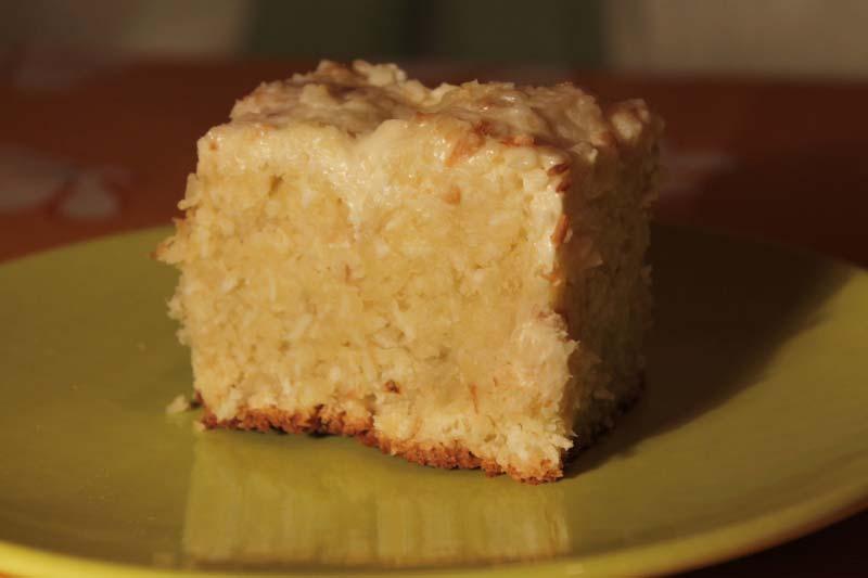 простой рецепт кокосового пирога