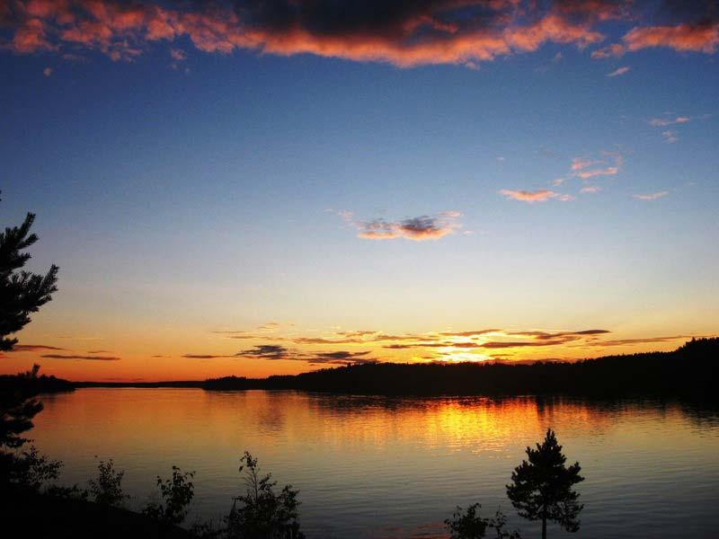 северная ладога шхеры природа фото закат