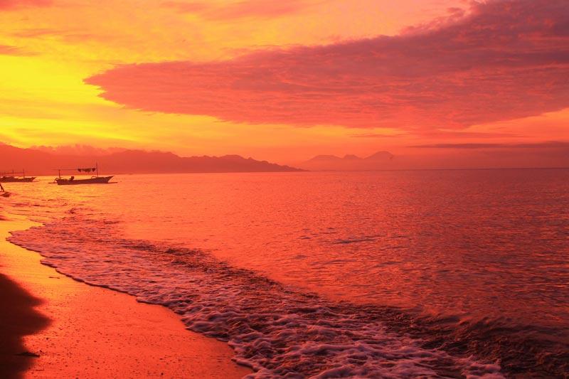 11а бали закат в море