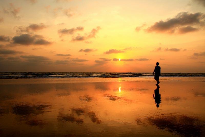 3 фото закат в море