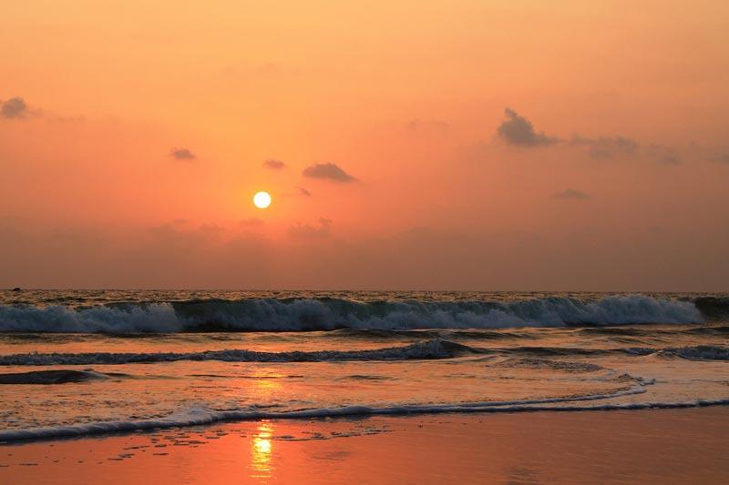 4 фото закат в море