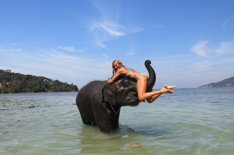 11-девушка-на-хоботе-слона-фото