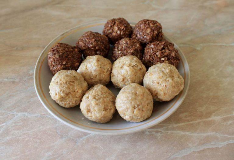 Конфеты из сухофруктов и орехов с овсяными хлопьями 99