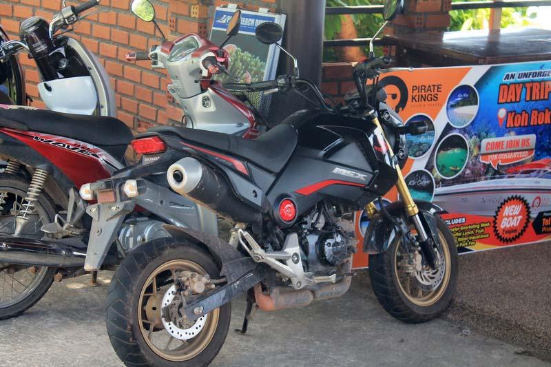 аренда мотоцикла honda msx на пхукете