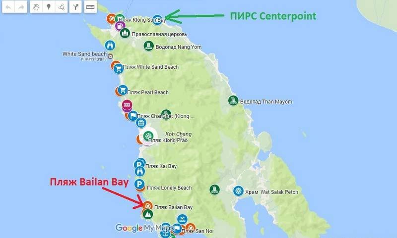 Пляж-Bailan-Bay на карте