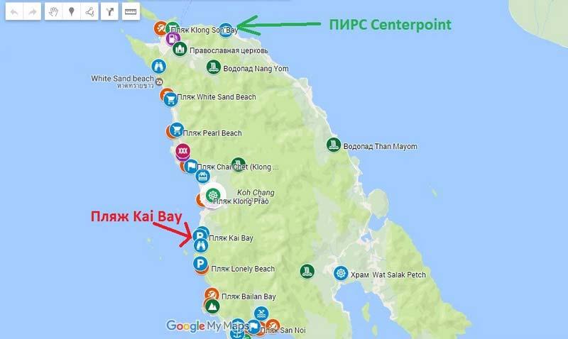 Пляж-Kai-Bay на карте