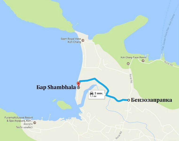 Дорога к пляжу Клонг Сон Бей