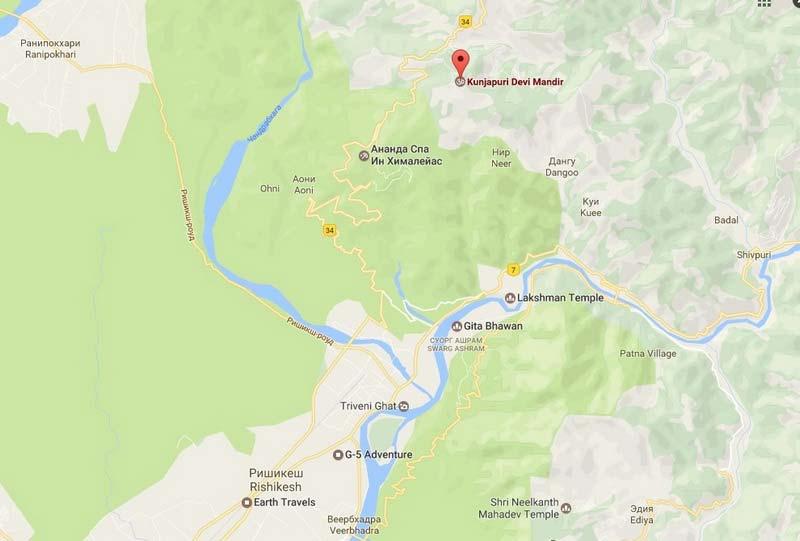 Kunjapuri-temple-maps