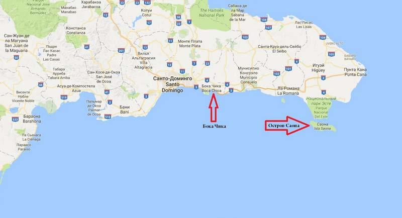остров-саона-на-карте