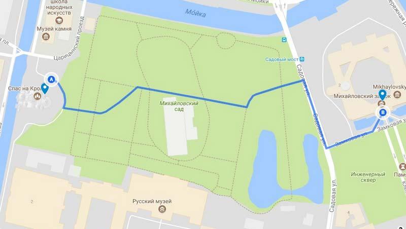 7 Карта аршрута по Петербургу