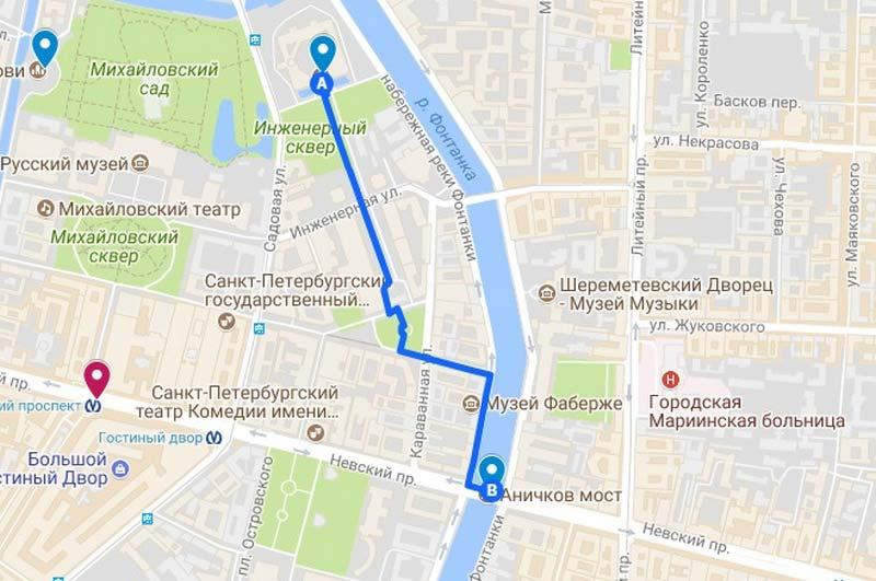 8 Карта аршрута по Петербургу