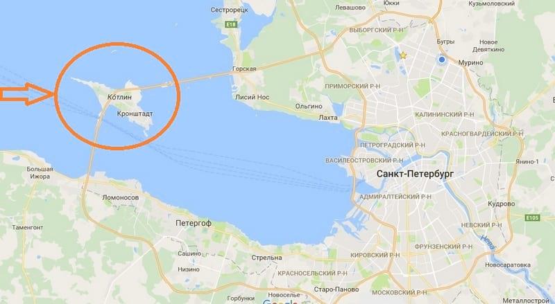 кронштадт на карте ленинградской области фото выяснилось