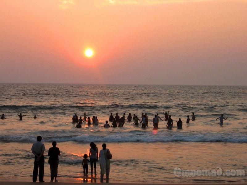 пляж Ковалам закат