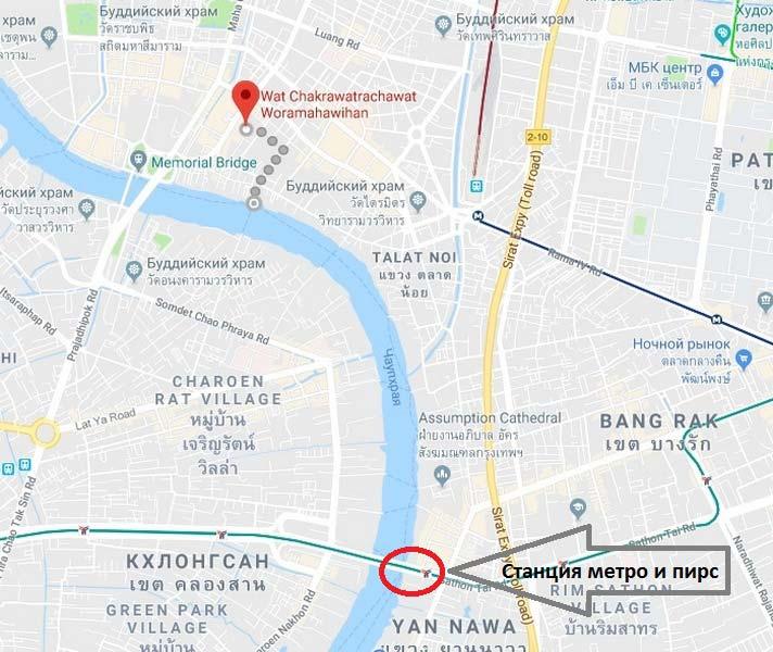 Бангкок-храм-крокодилов-карта