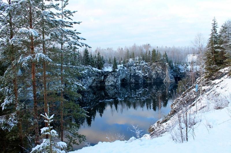 Рускеала зимой фото
