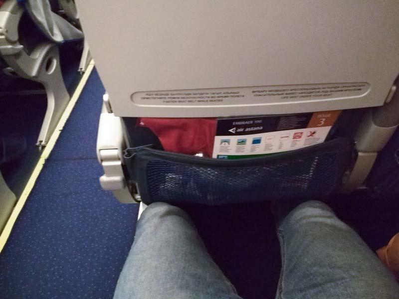 Embraer-EMB-190 расстояние между сидениями