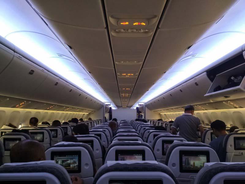 Эйр-Астана-салон-самолета