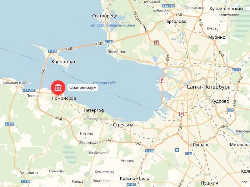 Где-находится-Ораниенбаум-карта