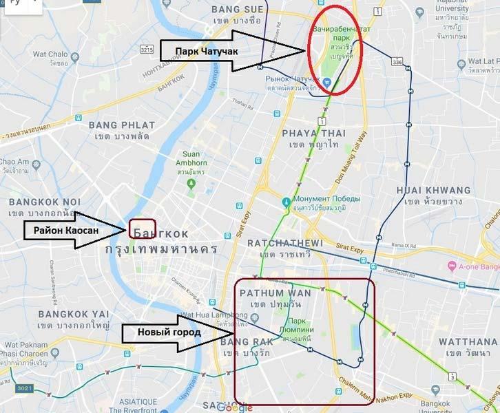 парк-Чатучак-на-карте