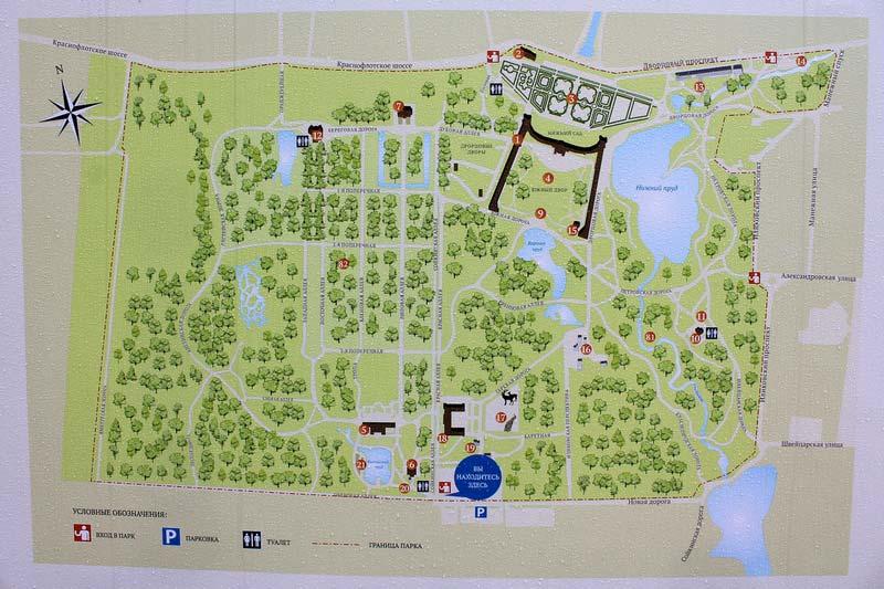 1-Ораниенбаум-карта-парка