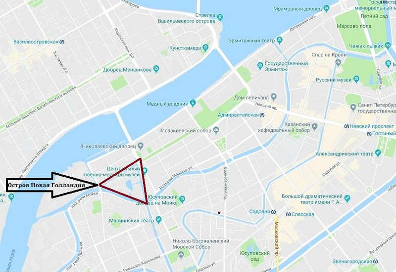 Новая Голландия на карте
