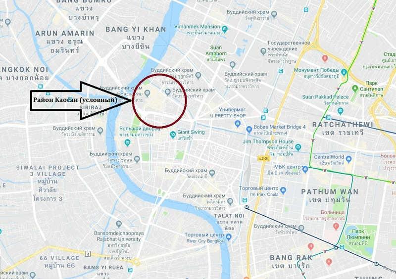 Район Каосан на карте