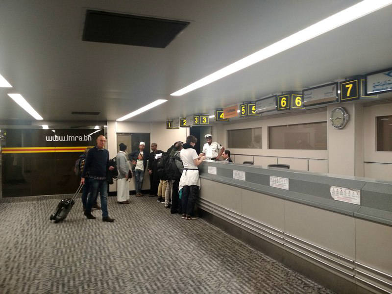 аэропорт Бахрейн стойки авиакомпаний