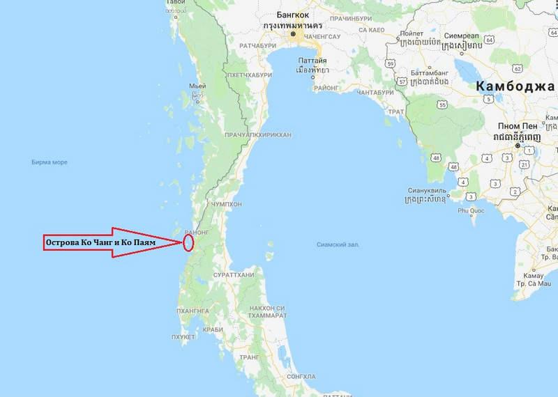 Koh Payam maps