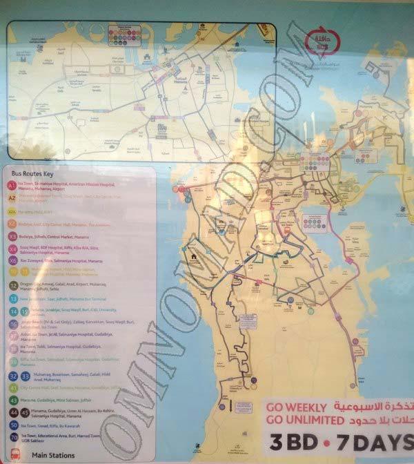 Автобусные-маршруты-Бахрейна