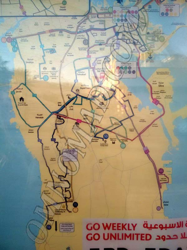 Маршруты-автобусов-Бахрейна