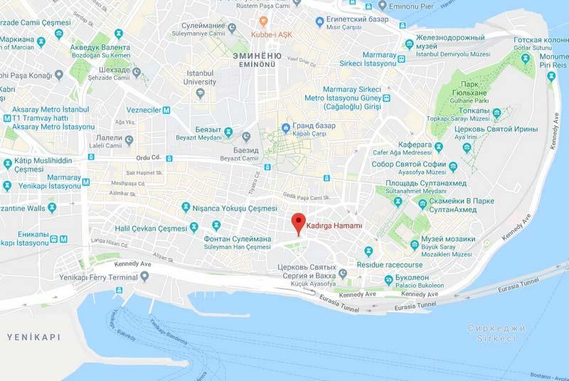 Кадирга-хамам-(Kadirga-Hamam)-на-карте