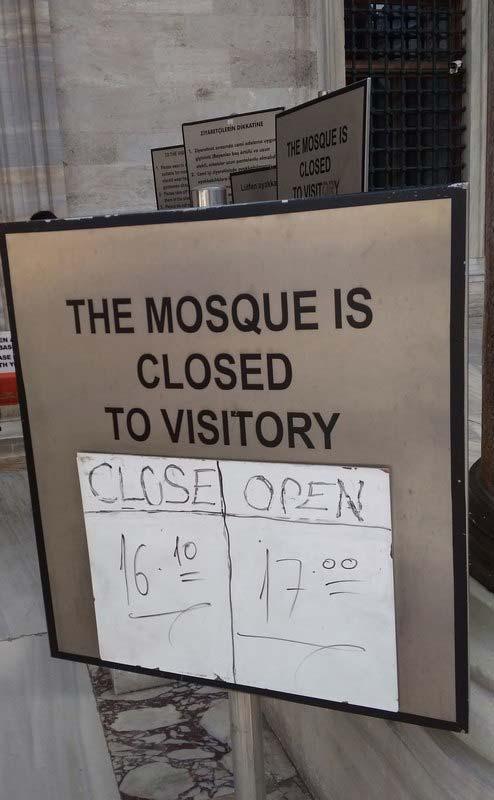 Мечеть Сулеймание часы работы