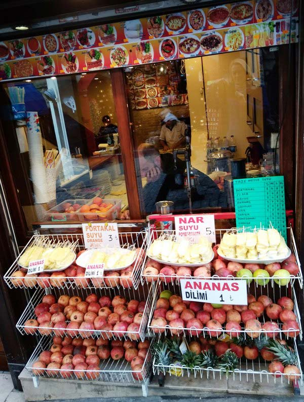 Стамбул-гранат-фрукты