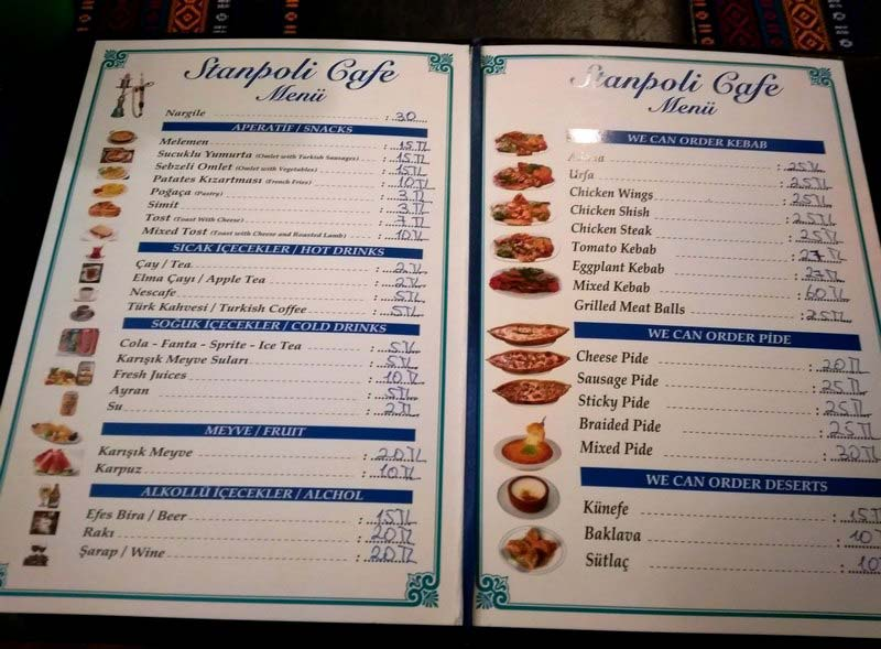 цены-на-еду-в-Стамбуле-меню
