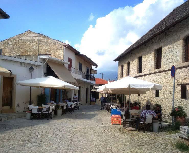 Деревня-Омодос-рестораны