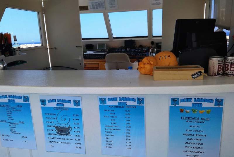 Кипр-меню-на-лодке-цены