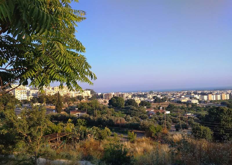 Вид на Пафос Кипр