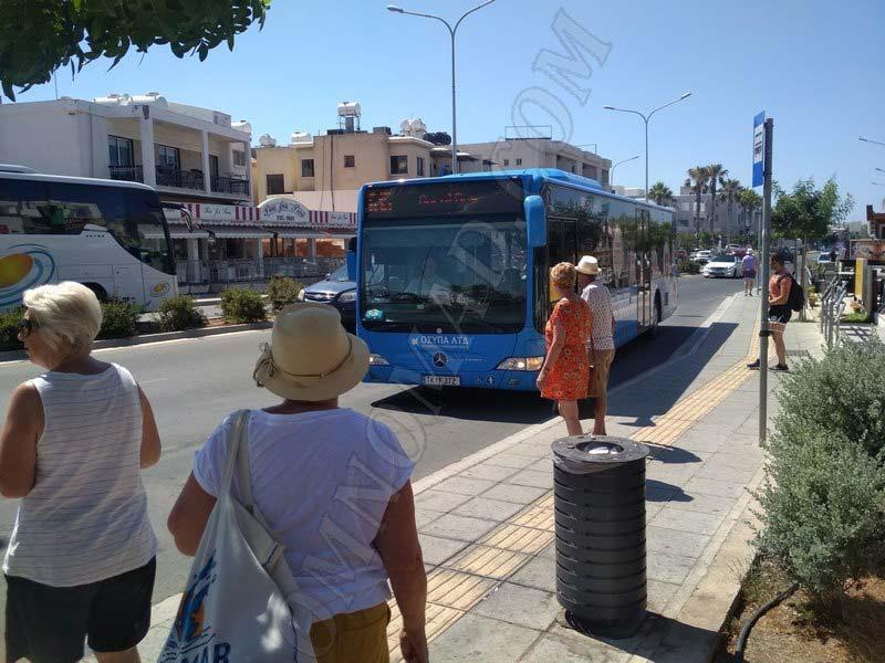 автобус-Пафос-пляж-Coral-Bay