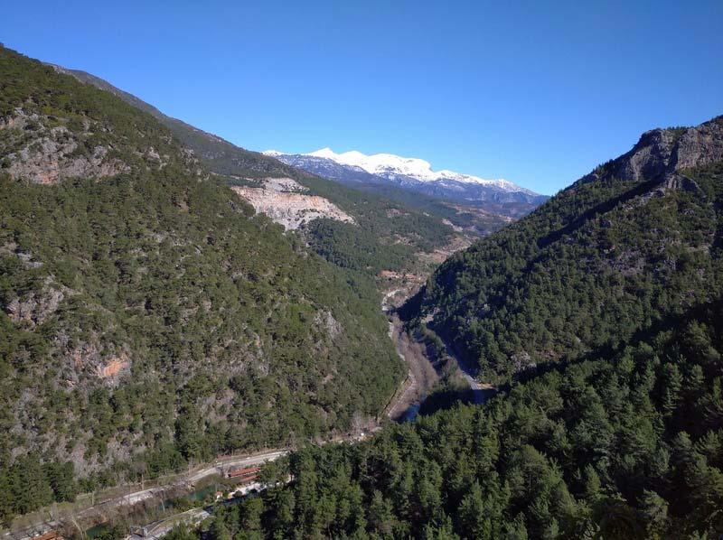 каньон Дим зимой Алания